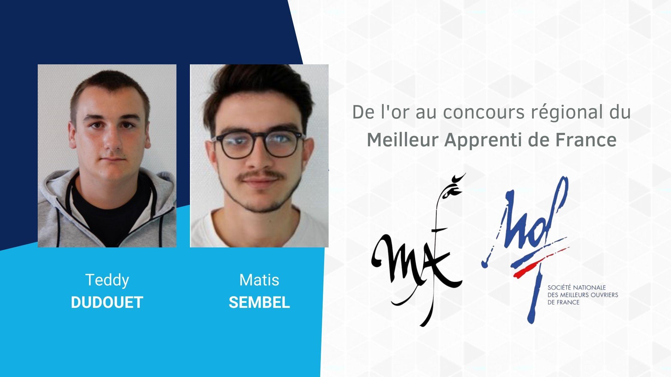 De l'or au concours du Meilleur Apprenti de France