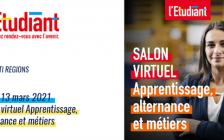 Le CFA Martello participe au salon virtuel de l'apprentissage 2021